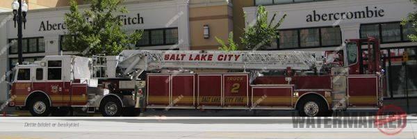 Brannbil i Salt Lake City - FOTO: Karin Pedersen